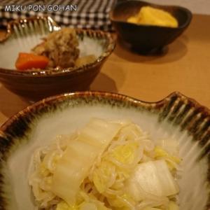 白菜としらたきの炒め煮