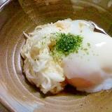 温泉卵と長芋の小鉢