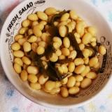 炊飯器でつくる。大豆の甘煮