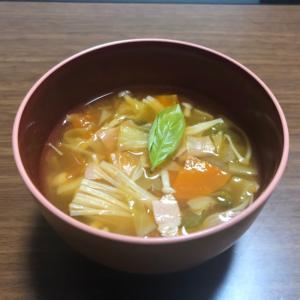 ミネストローネ風 コンソメスープ
