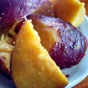 さつま芋の、バター醤油焼き