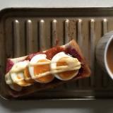 ハヤシソース卵ブルーベリーマヨパン