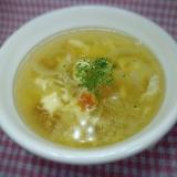 ベーコンと玉ねぎ たまごのコンソメスープ