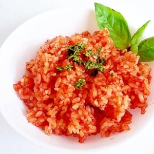 トマトジュースの炊き込みご飯