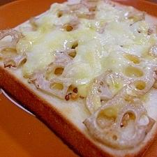 蓮根マヨチーズトースト