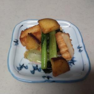 小松菜とさつまいもの味噌炒め