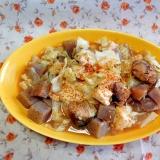 キャベツと豆腐と蒟蒻のサバ缶煮