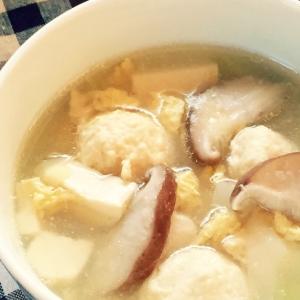 ★鶏むね肉のフワフワ肉団子スープ★