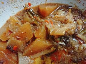 牛丼リメイク白菜と大根の煮物