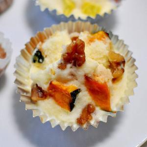 かぼちゃ&胡桃de米粉蒸しパン