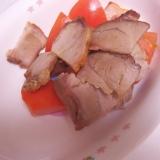 トマトと焼き豚の和え物■簡単!時短■残り物レシピ■