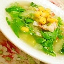 食べる!❤青梗菜と葱の元気スープ❤