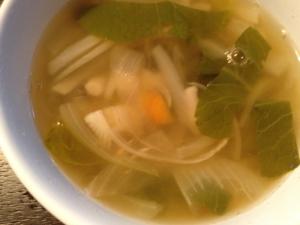 新玉ねぎのオニオンスープ