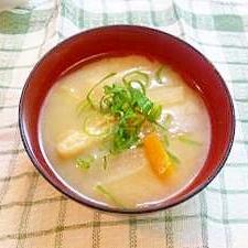 味噌汁バリエ☆♯2ダイコン・ニンジン・うすあげ