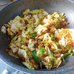 うちのおかず「挽き肉とキャベツの味噌炒め」