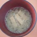 油揚げとキャベツの味噌汁