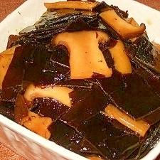 【松茸に見えてエリンギ】昆布の酢っぱ佃煮