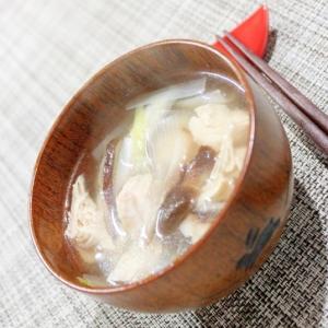冷え症さんに♪暖っか★鶏ささみの簡単生姜スープ