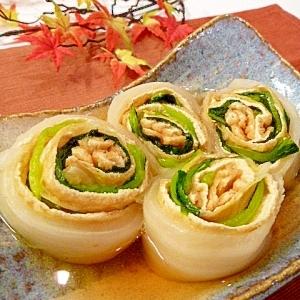 干し野菜で作る☀「白菜と小松菜の信田巻き」