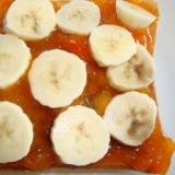 バナナと柿ジャムのトースト