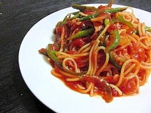 簡単!野菜たっぷりガーリックトマトパスタ