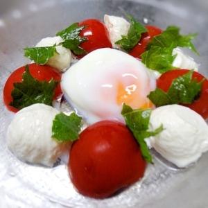 トマトと豆腐の可愛いサラダ