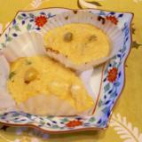百合根・茶豆の長芋焼き、柚子ワサビ添え