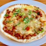 簡単!☆キムチ納豆ピザ