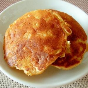 ヘルシー!白えごまとチーズの大豆粉パンケーキ♪