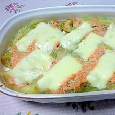 茄子と明太子のチーズ焼き
