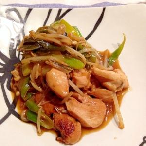 鶏胸肉と野菜の焼肉風炒め