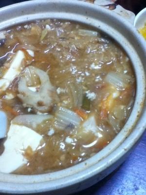 春雨の味噌チゲ鍋