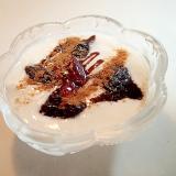 プルーンと苺ジャムとチョコシナモンの美的ヨーグルト