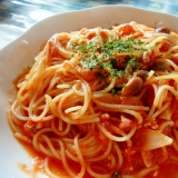 家にある材料で簡単!トマトソースパスタ