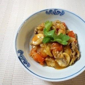 ご飯によく合う✩牛肉とミニトマトの中華風炒め