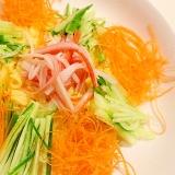 【夜食やダイエットに!】こんにゃく麺の冷やし中華