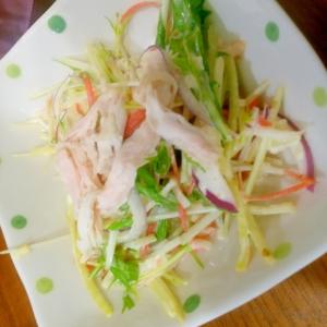 ささみと水菜のマヨぽんカラフルサラダ