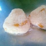 栗の甘露煮で梅酢おにぎり