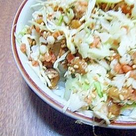 ボリューム満点♬納豆キャベツご飯★