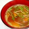 水菜とかぼちゃのみそ汁