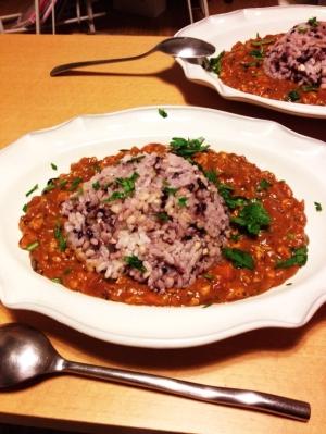 五穀米の豆腐カレー