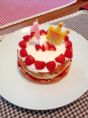 離乳食☆炊飯器で簡単に!1歳のバースデーケーキ