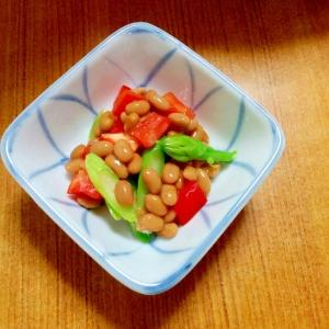 アスパラパプリカ♡納豆サラダ