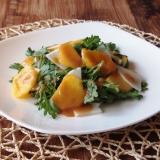 〔ひかり味噌公式〕柿と大根と春菊のサラダ