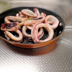イカの柚子胡椒バター焼き
