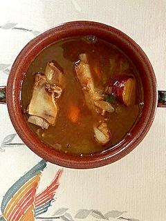 豚スペアリブの、ズッキーニ、トマトのカレー