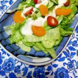 採れたて野菜とみかんのサラダ