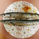 秋刀魚を焼いて食べよう〜にんにくと生姜を添えて〜