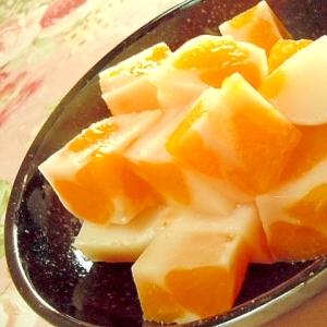 ❤カルピス豆乳みかん寒天❤