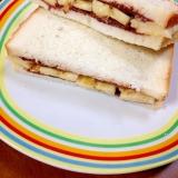 バナナとチョコクリームのサンドイッチ